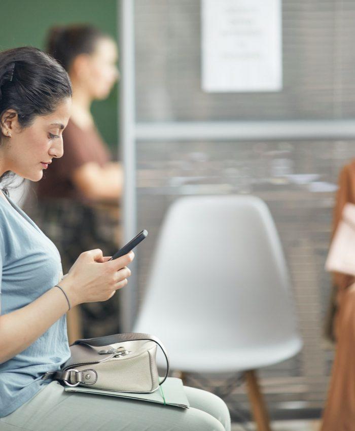 Women Waiting in Office